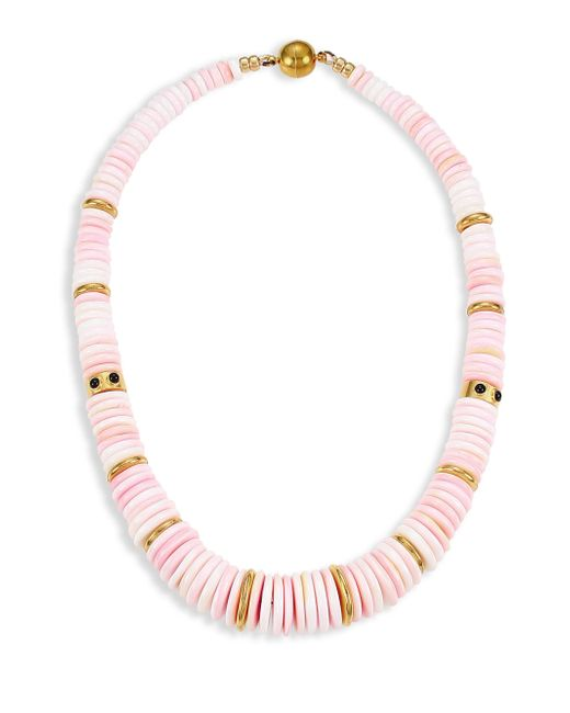 Lizzie Fortunato - Pink Alabaster 18k Goldplated Conch Shell & Onyx Collar Necklace - Lyst