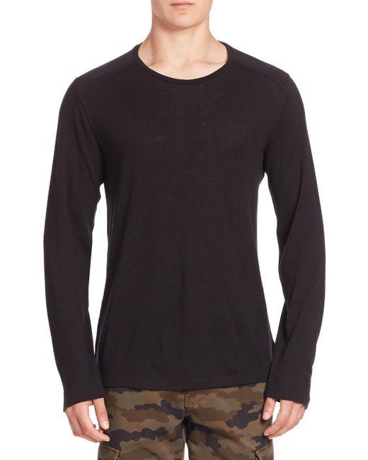 J Brand   Black Zeta Wool & Cashmere Blend Tee for Men   Lyst