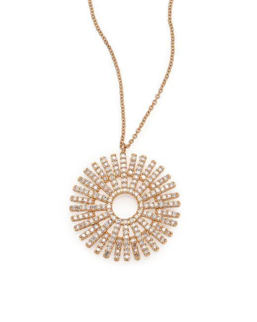 Astley Clarke - Metallic Rising Sun Diamond & 14k Yellow Gold Pendant Necklace - Lyst
