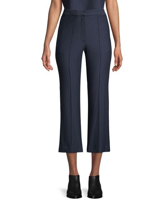 Tibi - Blue Jane Pinstripe Crop Pants - Lyst