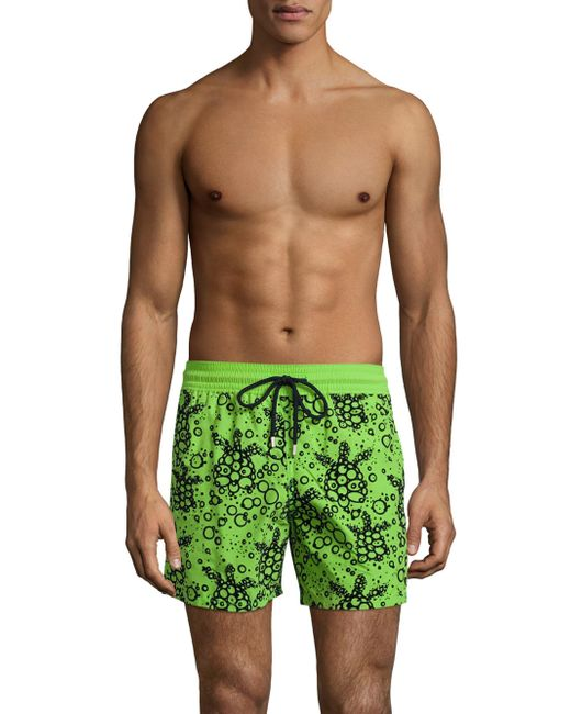 Vilebrequin | Green Flocked Bubble Shorts for Men | Lyst