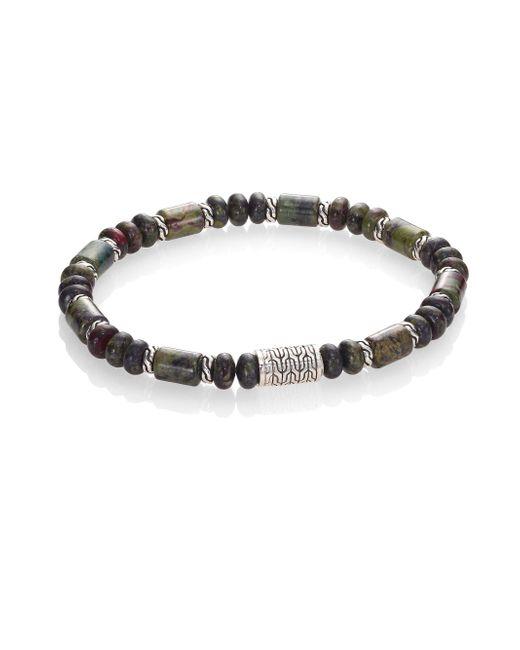 John Hardy - Metallic Classic Chain Collection Beaded Bracelet for Men - Lyst