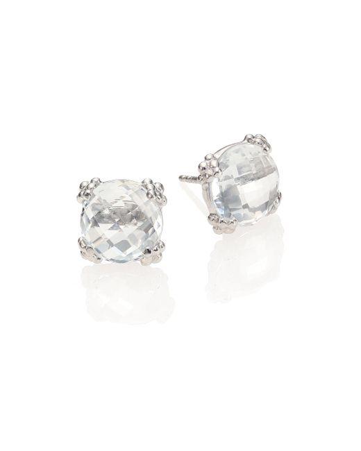 Anzie | Dew Drop White Topaz Stud Earrings | Lyst