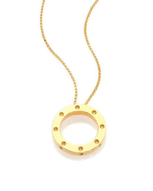 Roberto Coin | Metallic Pois Moi 18k Yellow Gold Pendant Necklace | Lyst