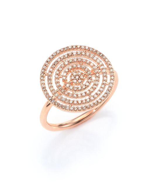 Astley Clarke - Metallic Icon Aura Grey Diamond & 14k Rose Gold Ring - Lyst