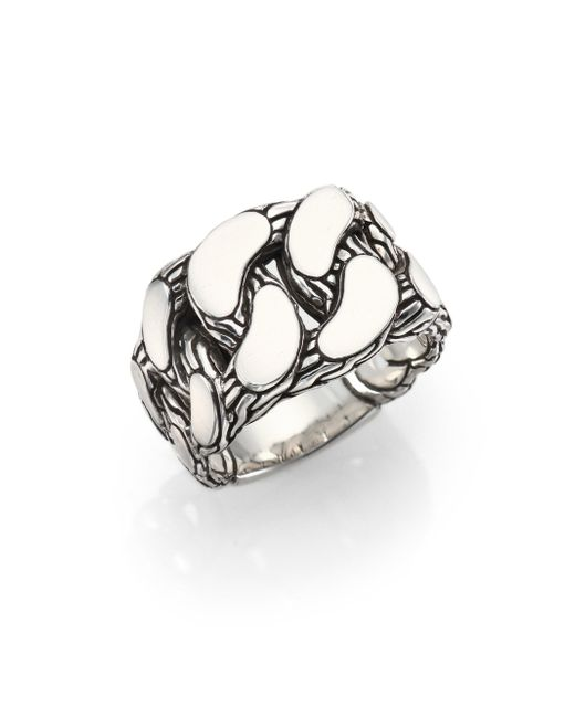 John Hardy - Metallic Classic Chain Gourmette Silver Ring - Lyst