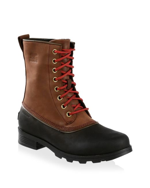 Sorel - Brown Emelie Lace-up Leather Booties for Men - Lyst