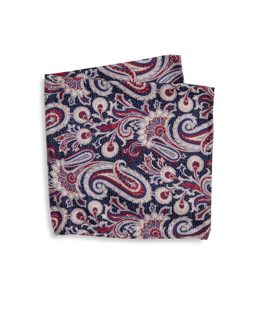 Saks Fifth Avenue | Blue Collection Paisley Textured Pocket Square for Men | Lyst