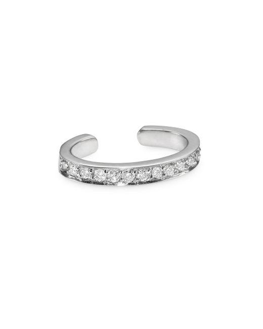 Anita Ko - Metallic 18k White Gold Diamond Pave Ear Cuff - Lyst