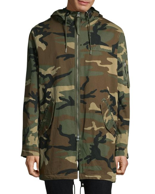 Ovadia And Sons | Green Fishtail Camo Parka for Men | Lyst