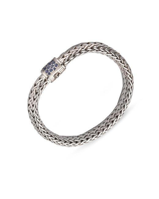John Hardy | Metallic Classic Chain Sapphire & Sterling Silver Medium Bracelet | Lyst