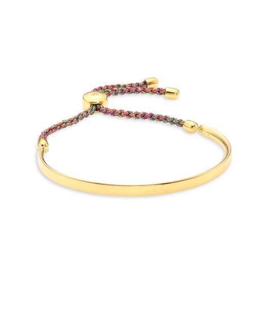 Monica Vinader - Metallic Gp Fiji Friendship Bracelet/goldtone - Lyst