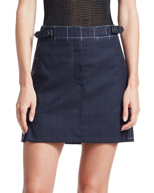 Rag & Bone Blue James Plaid Mini Skirt