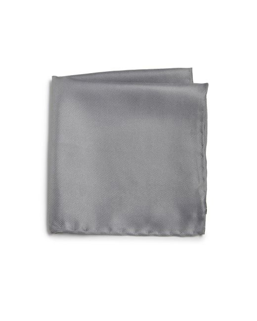 Saks Fifth Avenue | Gray Silk Solid Pocket Square for Men | Lyst