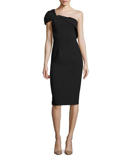 Black Halo - Black Rochester One Shoulder Cocktail Dress - Lyst