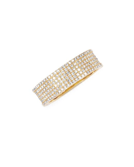 EF Collection - Metallic Diamond Cigar Band Ring - Lyst