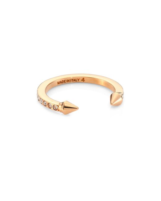 Vita Fede - Metallic Super Ultra Mini Titan Crystal Ring/rose Goldtone - Lyst
