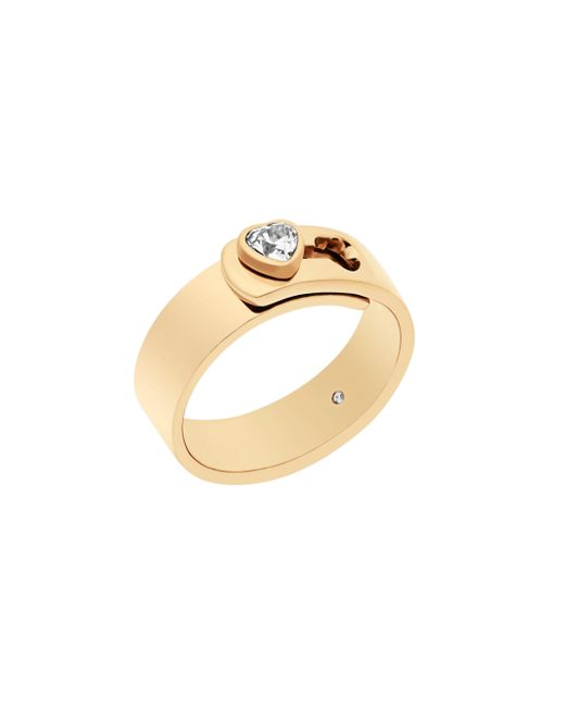 Michael Kors   Metallic Modern Brilliance Crystal Heart Ring/goldtone   Lyst