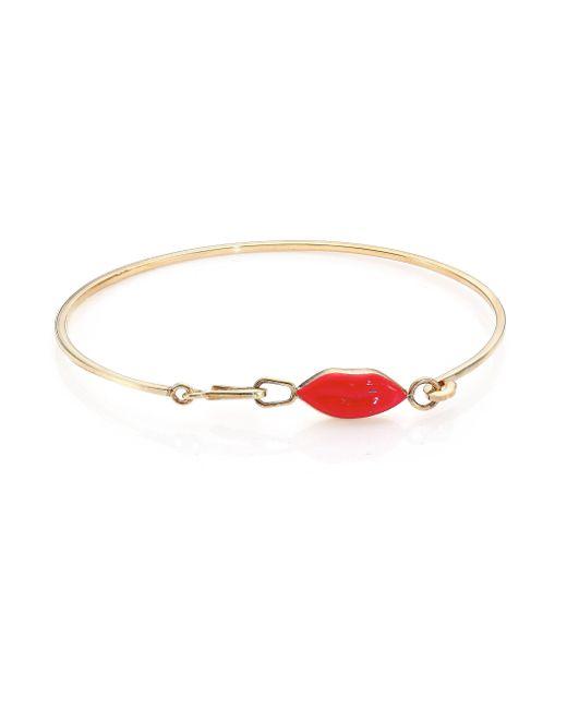 Delfina Delettrez | Red Anatomik Lips Bracelet | Lyst