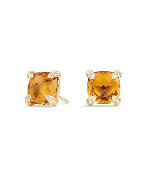 David Yurman - Metallic Châtelaine Gemstone & 18k Gold Stud Earrings - Lyst