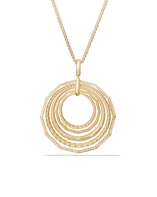 David Yurman - Metallic Stax Pendant Necklace With Diamonds In 18k Yellow Gold - Lyst