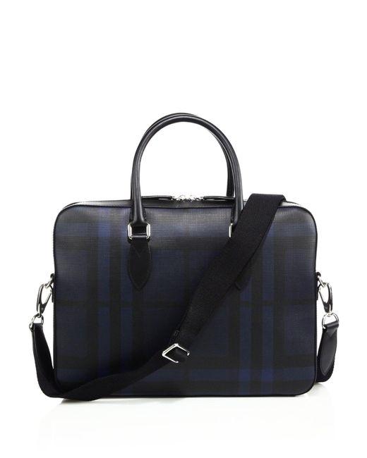 9f469c5da1d3 Lyst - Burberry Men s Hambleton Briefcase - Navy in Black for Men ...
