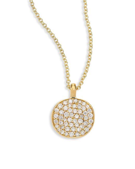 Ippolita - Metallic Stardust Diamond & 18k Yellow Gold Disc Pendant Necklace - Lyst