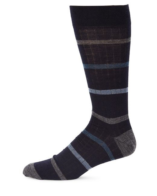 Saks Fifth Avenue | Blue Collection Simple Stripe Dress Socks for Men | Lyst