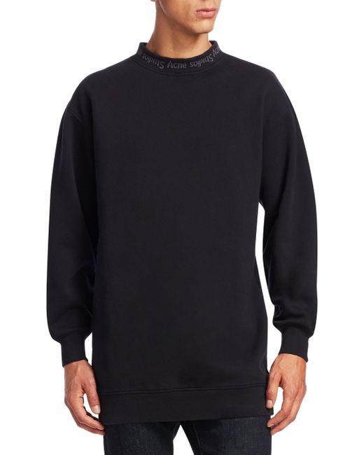 Acne | Black Yana Cotton Sweatshirt for Men | Lyst