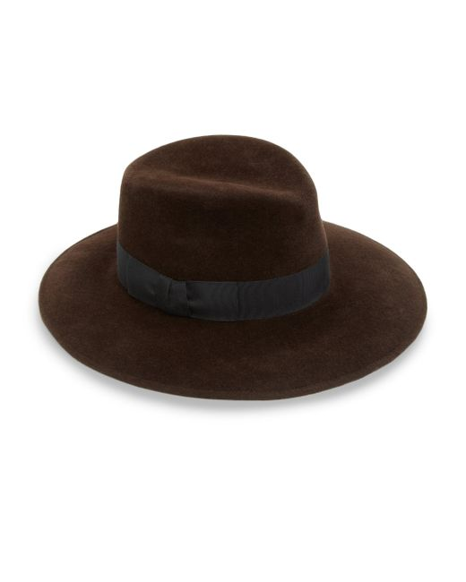 Eric Javits | Brown Zora Milled Rabbit Hair Hat | Lyst