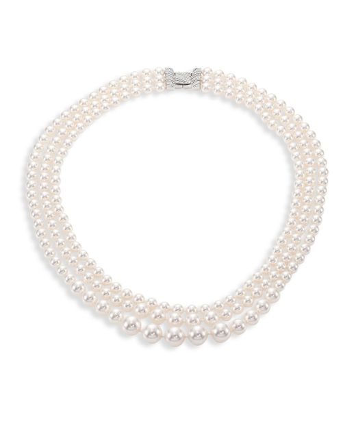Adriana Orsini   Metallic Layered Faux-pearl Necklace   Lyst