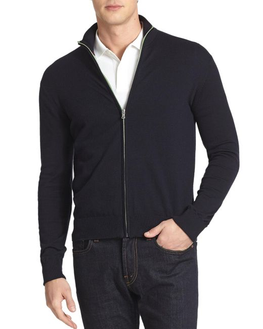Victorinox | Blue Front Zip Cardigan for Men | Lyst