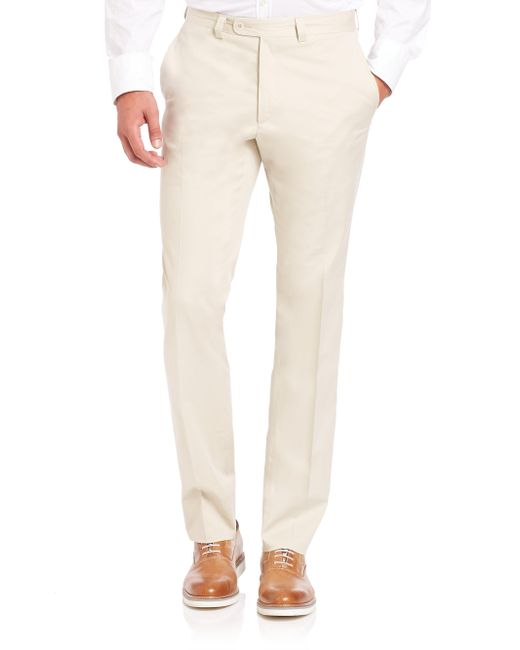 Saks Fifth Avenue | Natural Collection Stretch Cotton Trousers for Men | Lyst
