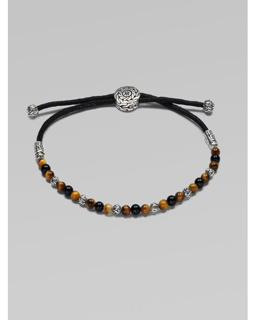 John Hardy - Metallic Beaded Cord Bracelet - Lyst