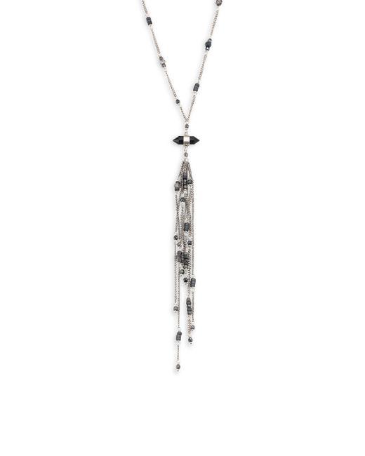 Chan Luu | Blue Labradorite Mix Fringe Necklace | Lyst
