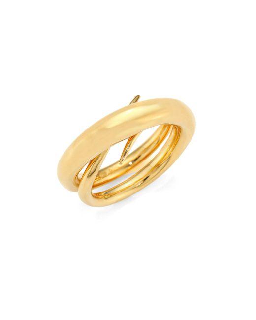 Charlotte Chesnais - Metallic Unchained Ring/goldtone 0.75 - Lyst