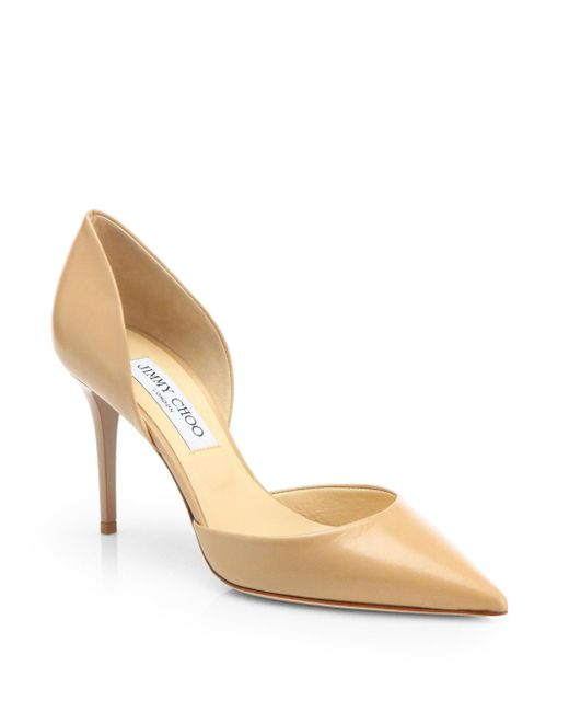 Jimmy Choo - Natural Addison 80 Leather D'orsay Pumps - Lyst