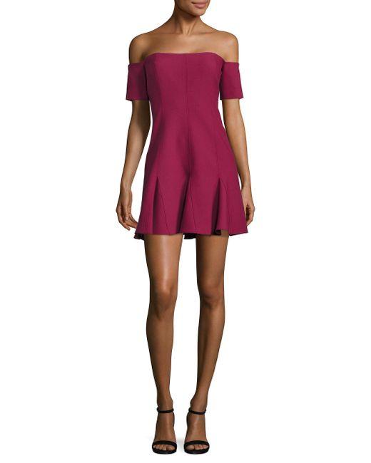 Cinq À Sept | Multicolor Elva Off-the-shoulder Godet Mini Dress | Lyst