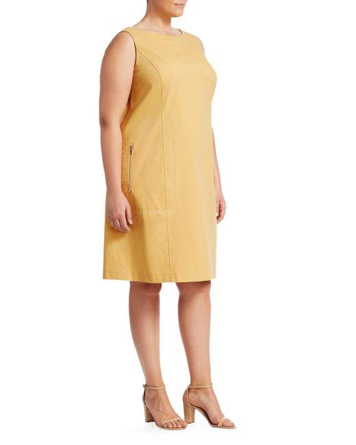 Lafayette 148 New York - Yellow Paxton Stitched Dress - Lyst