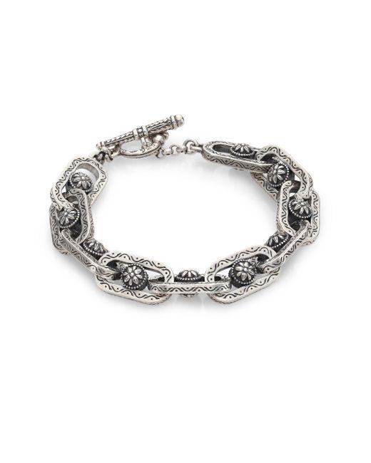 Konstantino - Metallic Penelope Sterling Silver Etched Link Bracelet - Lyst