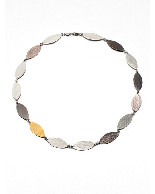 Gurhan | Metallic Willow 24k Yellow Gold & Sterling Silver Marquis Necklace | Lyst