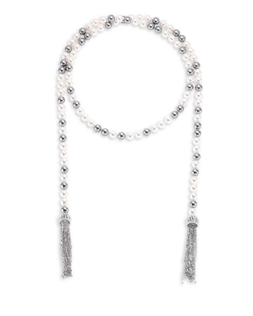 Adriana Orsini - Metallic Multi Faux-pearl Wrap Necklace/38 - Lyst