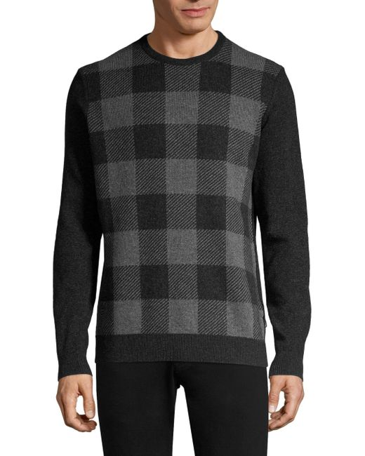 Barbour - Multicolor Buffalo Check Crewneck Sweater for Men - Lyst