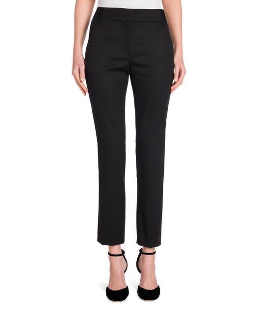 Giorgio Armani - Black Magic Straight Virgin Wool Ankle Pants - Lyst
