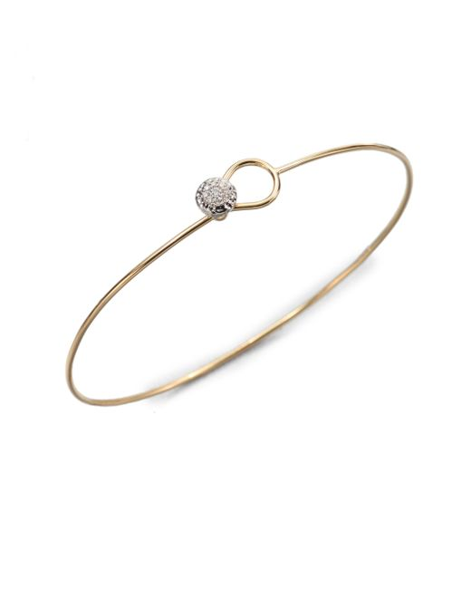 Phillips House - Metallic Love Always Diamond & 14k Yellow Gold Wire Bangle Bracelet - Lyst