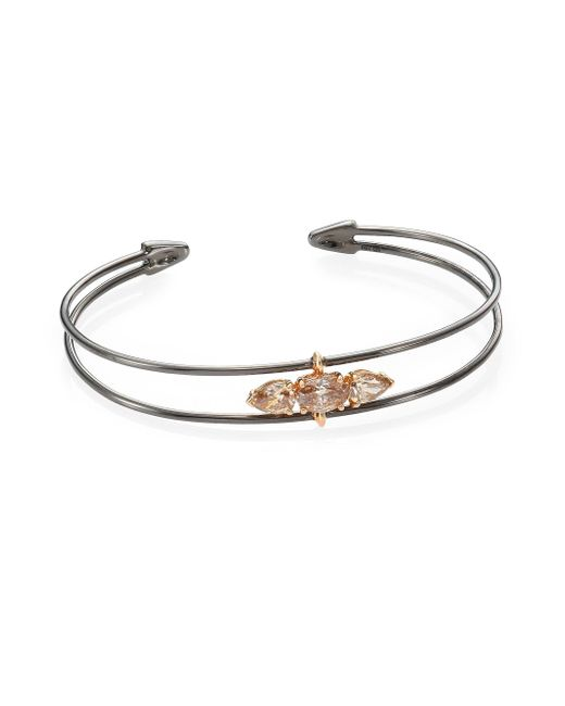 Etho Maria - Metallic 18k Blackened Rose Gold & Diamond Bracelet - Lyst