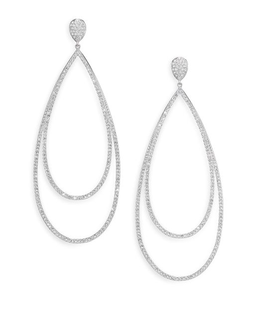 Adriana Orsini - Metallic Pave Crystal Double-tier Drop Earrings/silvertone - Lyst