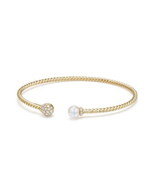 David Yurman - Metallic Solari Diamond & Pearl Bracelet - Lyst