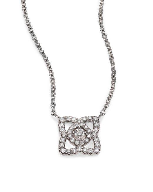 De Beers - Metallic Women's Enchanted Lotus Diamond & 18k White Gold Mini Pendant Necklace - White Gold - Lyst