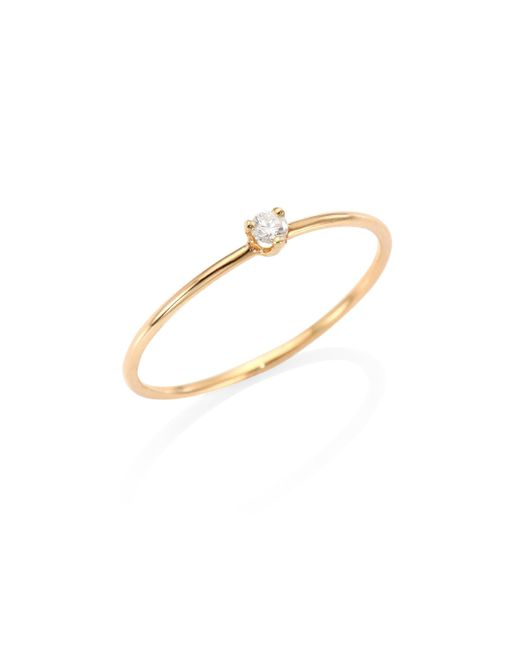 Zoe Chicco - Metallic Diamond & 14k Yellow Gold Ring - Lyst